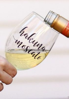Fun Free Wine Glass Decal Perfect for Girls Night Out