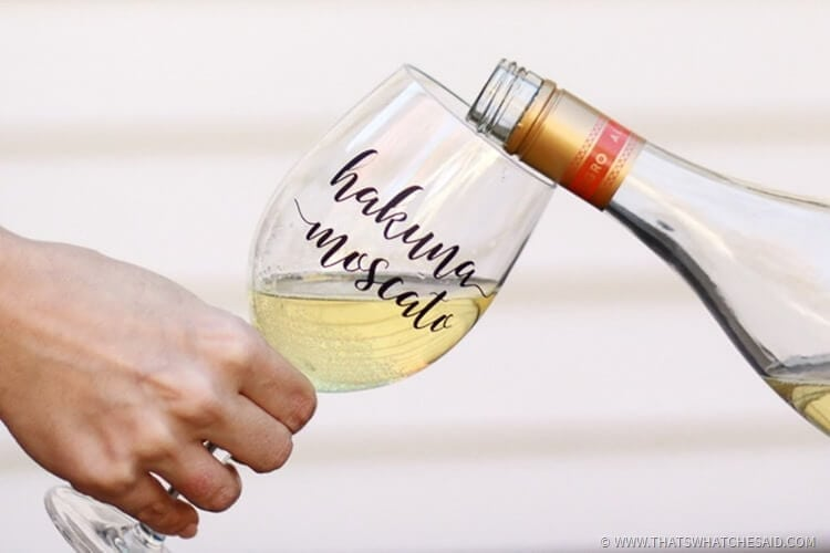 Girls Night Out Wine Glass Decal