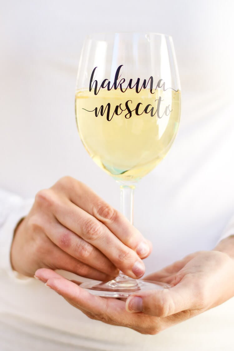 Hakuna Moscato Wine Glass Decal Free Cut File for Girls Night Out Idea