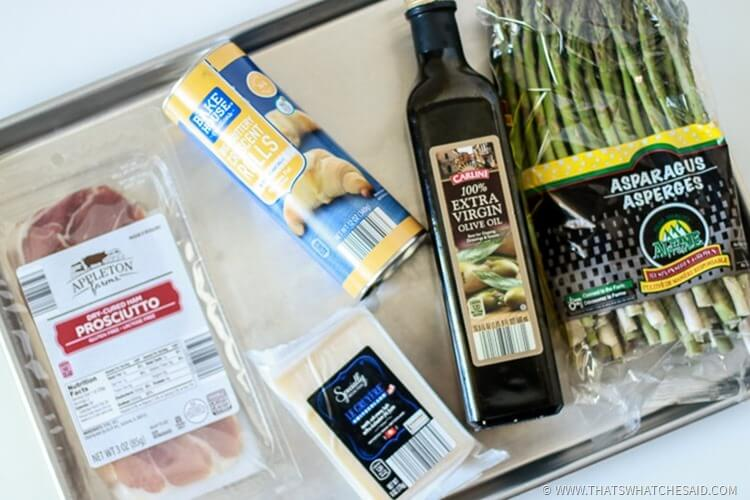 Ingredients for Proscuitto Asparagus Tart