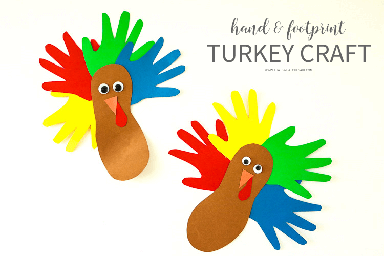 Paper Turkey Kid's Activity using Hand and Footprints