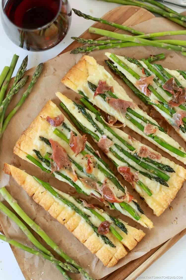Proscuitto Asparagus Tart