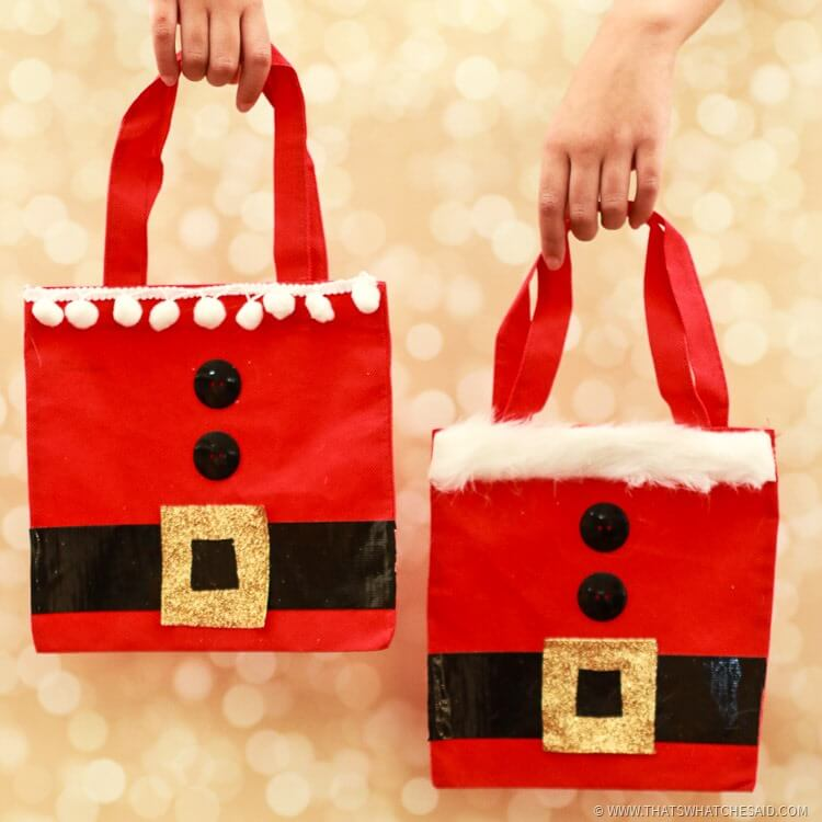 Santa gift bags christmas wrap idea that s what