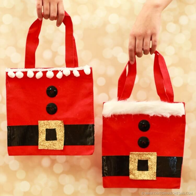 Santa Christmas Gift Bag Ideas