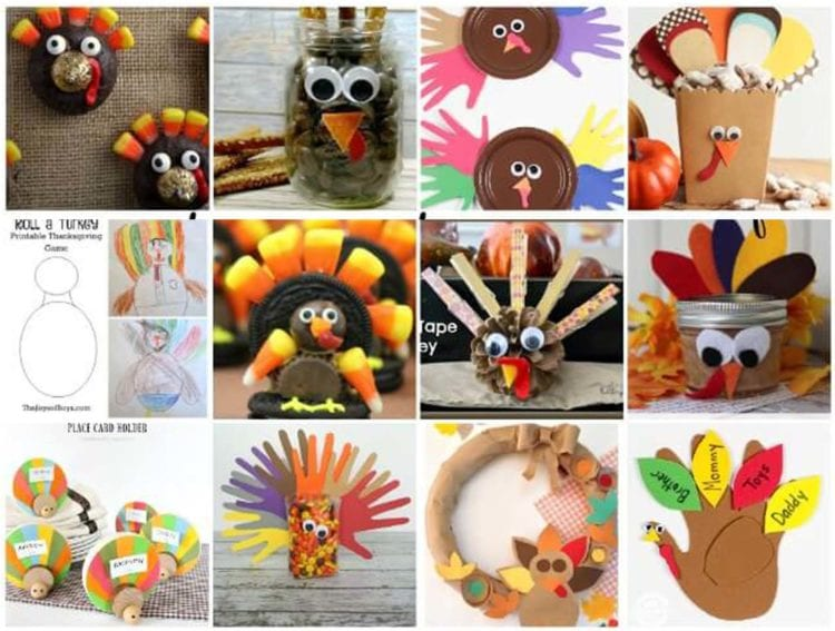 Collage of Excellent Thanksgiving Crafts and Recipes