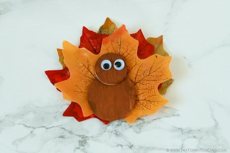 added googly eyes to turkey magnet
