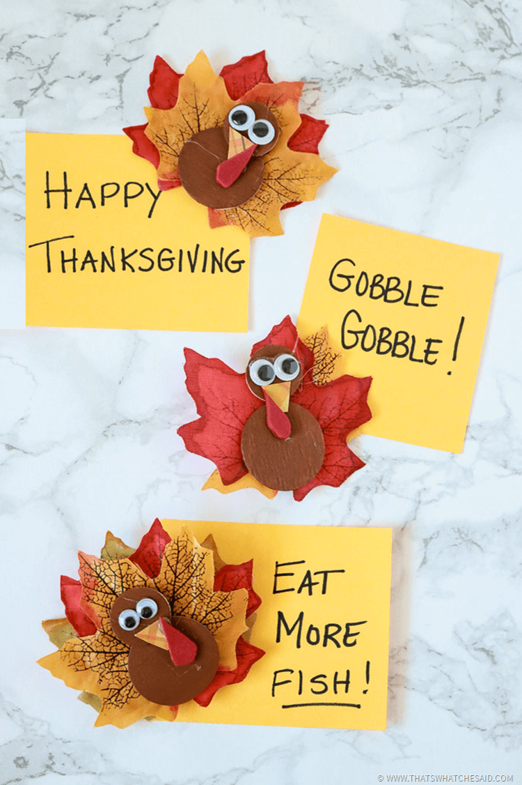 Thanksgiving Crafts Using Leaves