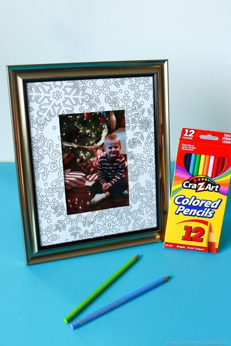 DIY Easy Coloring Page Frame Idea