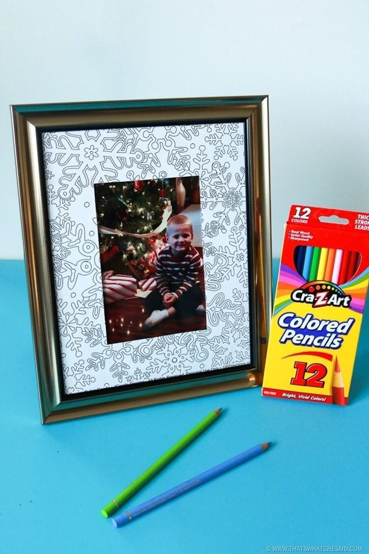 DIY Easy Coloring Page Frame Idea