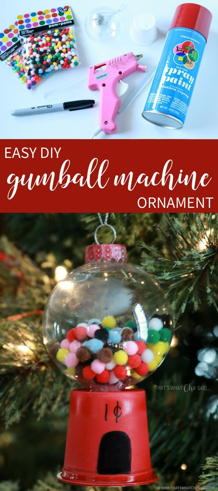 DIY Gumball Machine Ornament Project