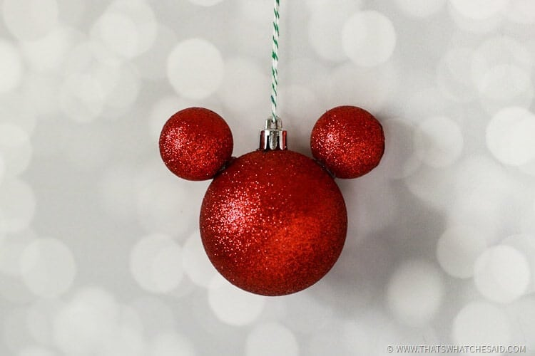 disney mickey mouse ornament - Homemade Mickey Mouse Christmas Decorations