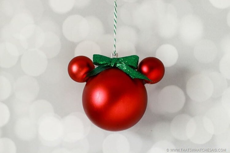 Easy Diy Mickey Mouse Ornament That S What Said