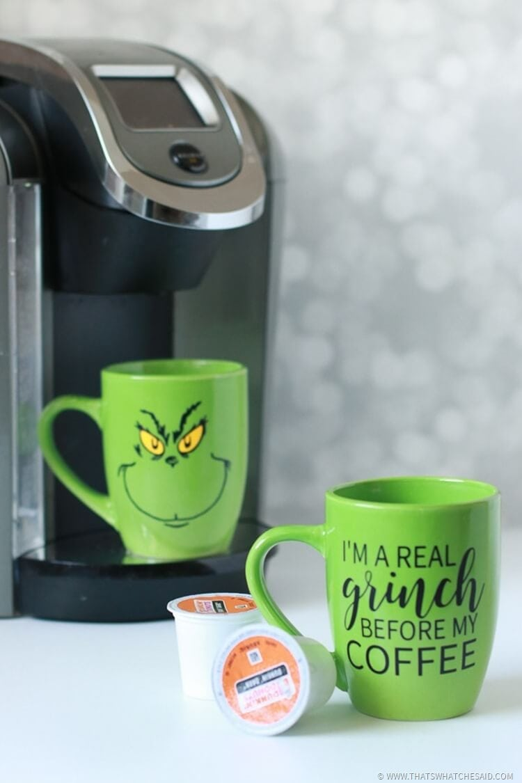Dr. Suess Inspired Grinch Mugs