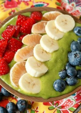 Rainbow Green Smoothie Bowl