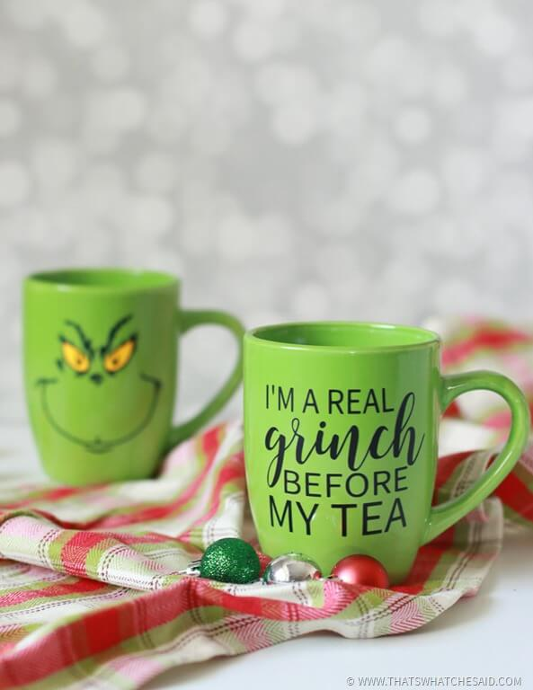 Grinch Coffee Mugs Free Cut Files That S What Che
