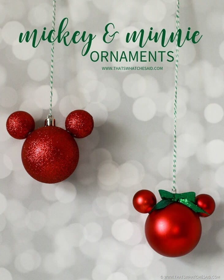 Mickey And Minnie Mouse Christmas Tree Decorations.Easy Diy Mickey Mouse Ornament That S What Said