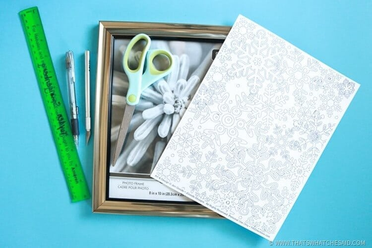 How to Make a Coloring Page Photo Frame