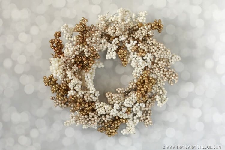 New Year's Wreath - Cream & Gold Berry Wreath