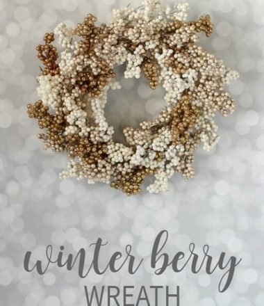 Winter Wreath for New Year's - Cream & Gold Berry Wreath