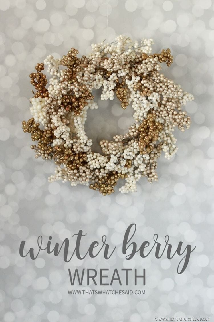 Winter Wreath - Cream & Gold Berry Wreath