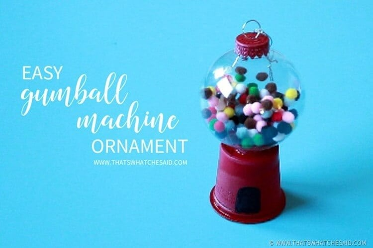 easy diy gumball machine ornament craft