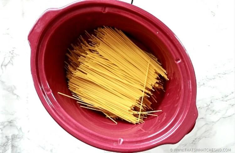 Crockpot Spaghetti & Meatballs