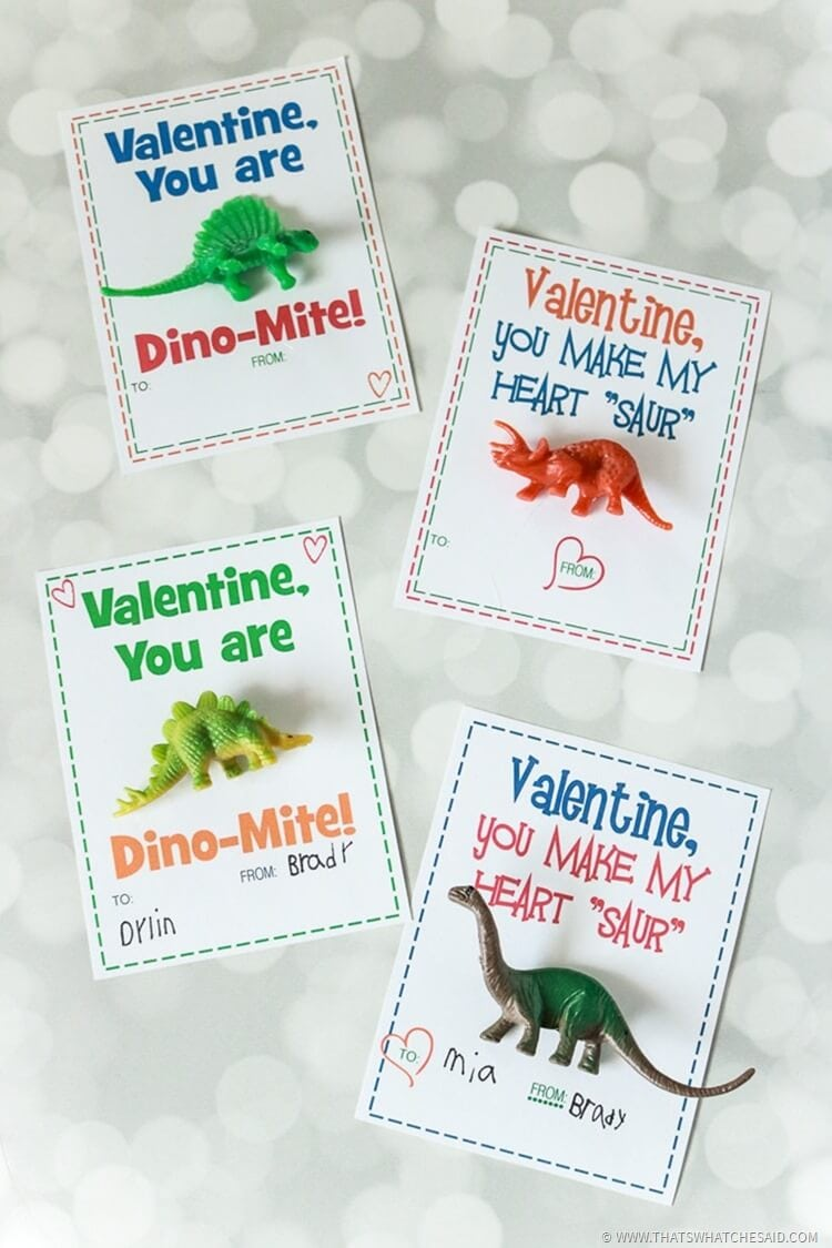 Dinosaur Valentines Card