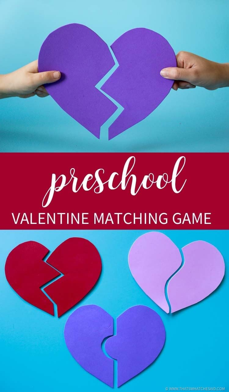 Preschool Valentine Matching Game