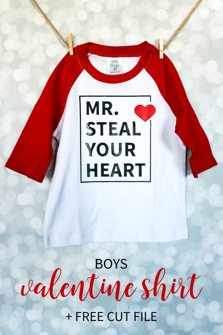 Boys Valentine Shirt Design