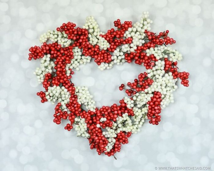 Easy Dollar Store Valentine's Day Berry Wreath