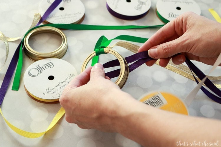 Mason Jar Ring Parade Streamers