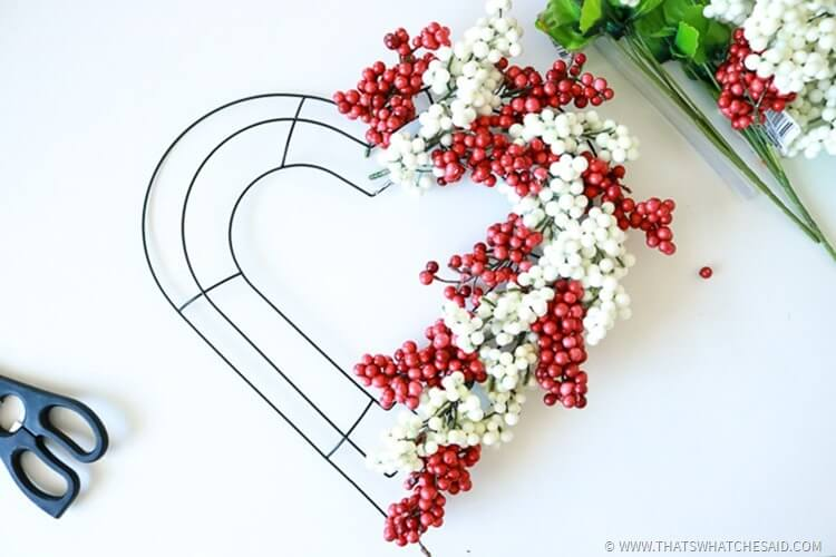 Valentine Heart Berry Wreath