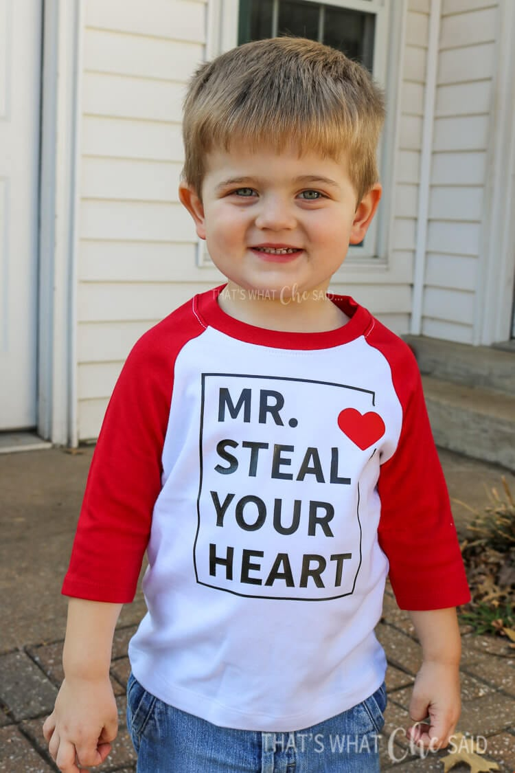 Boys Valentines Shirt + Free Cut File