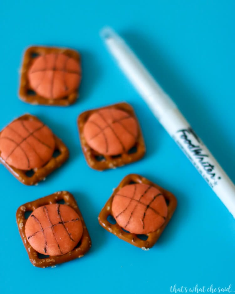 Basketball Pretzel bites are delicious and easy and perfect after game team treat.