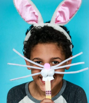 Easter Bunny Face Photo Prop Craft