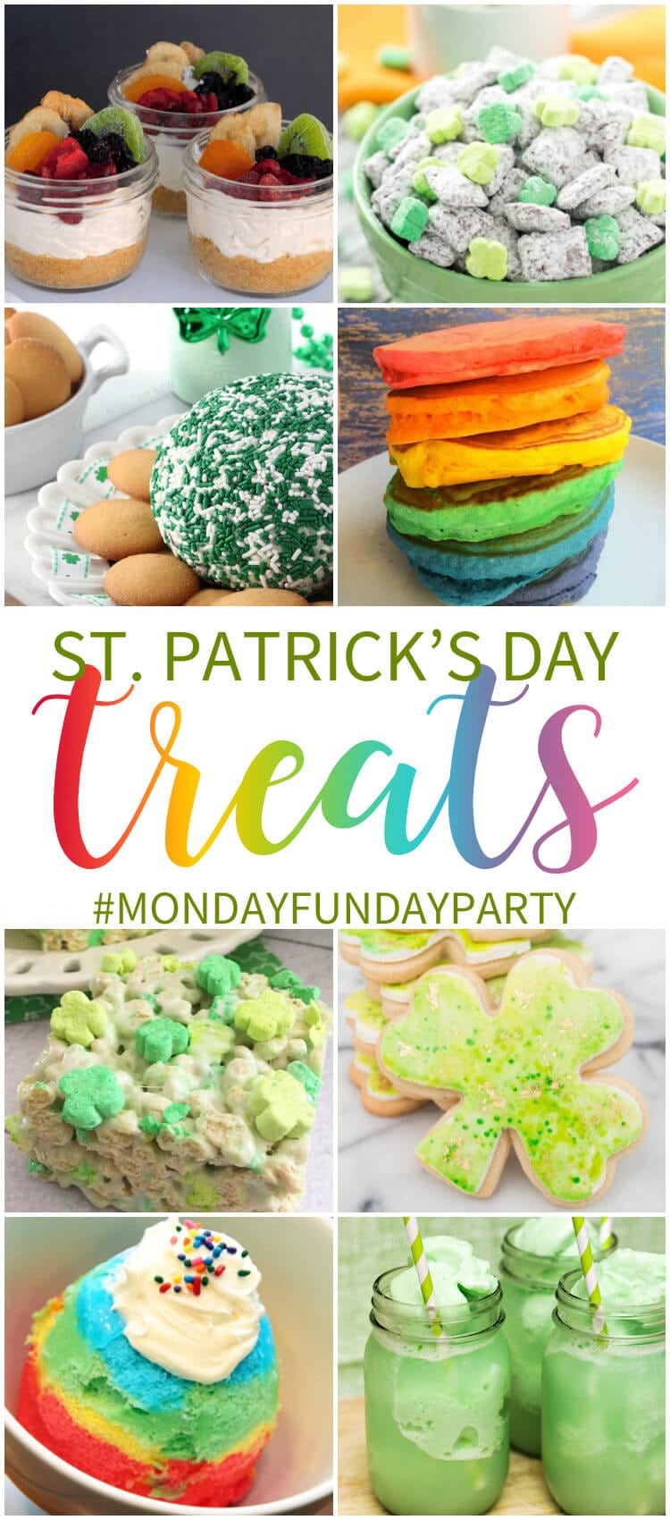St. Patrick's Day Treat Ideas - Monday Funday Link Party at www.thatswhatchesaid.com