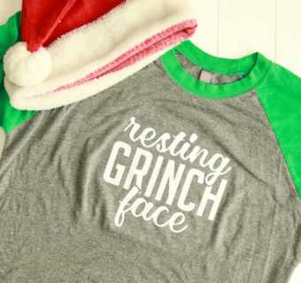 Resting Grinch Face Free SVG Cut File