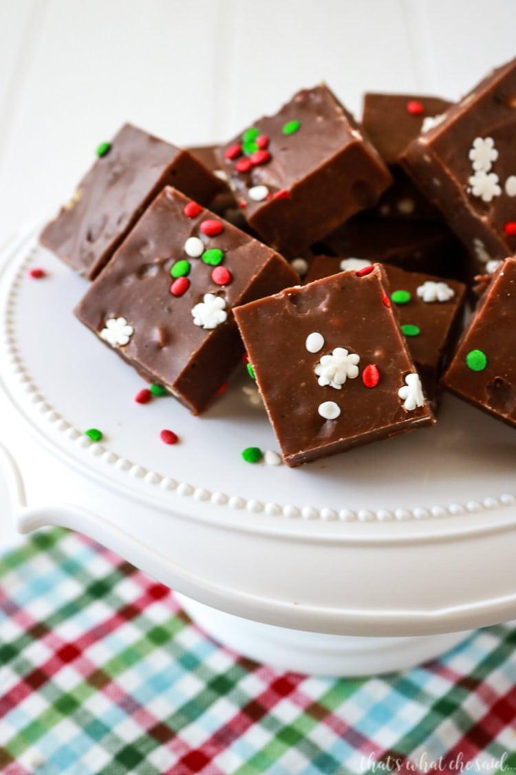 gingerbread 5 minute fudge