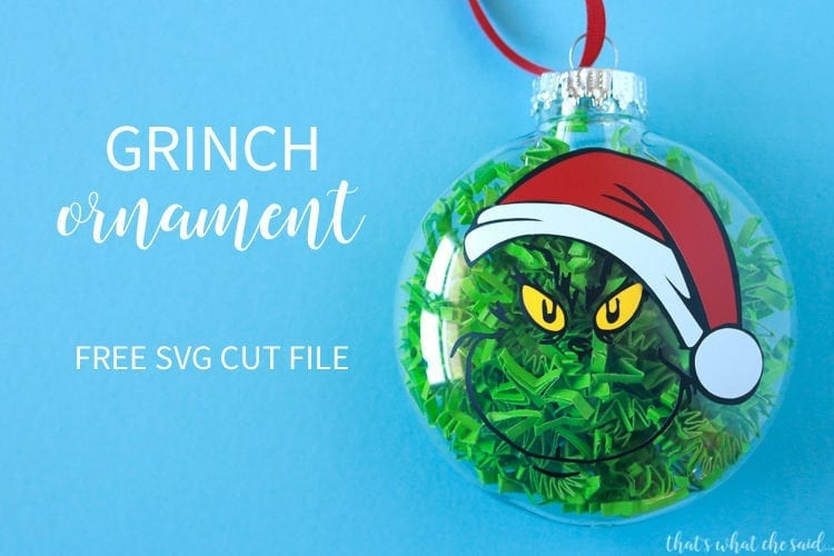 016d494a6e905 Grinch Ornament Free SVG - That s What  Che  Said...