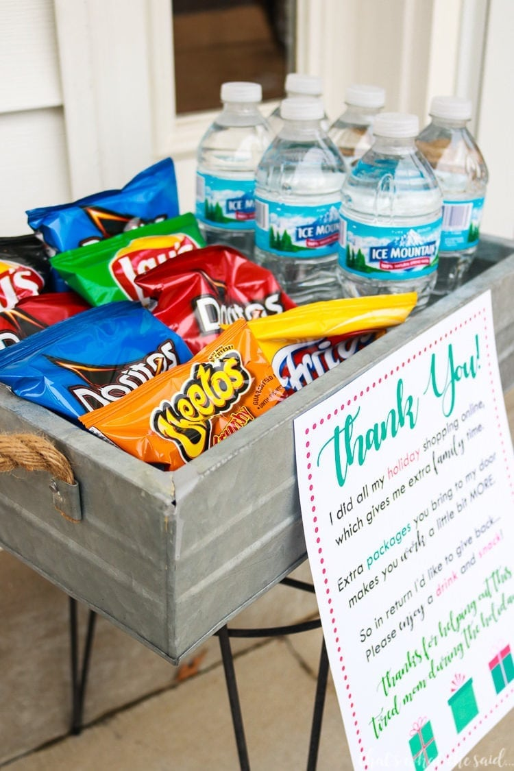UPS Driver Thank you Snack Printable