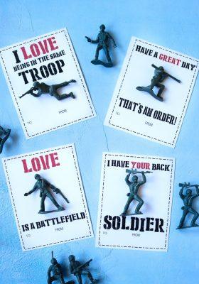 Army Man Valentine Printable