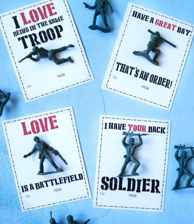 Army Man Valentine Printable