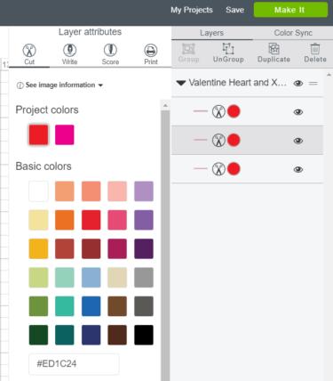 Cutting in all one color in Cricut Design Space