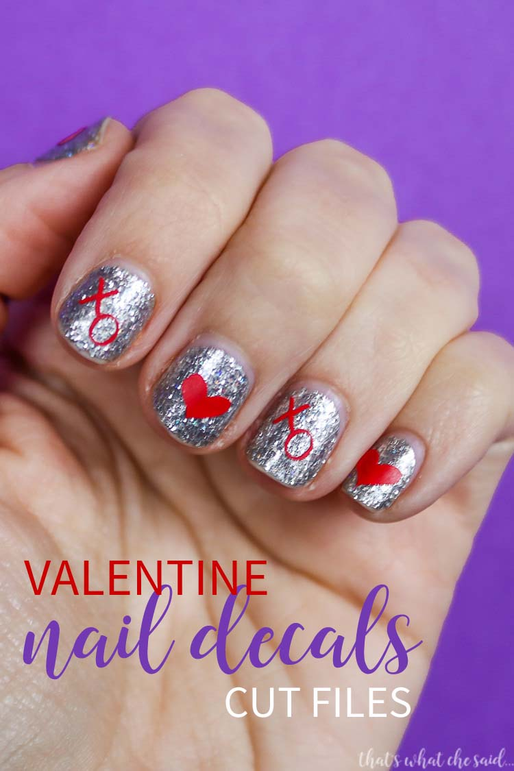 DIY Valentine Nail Decals