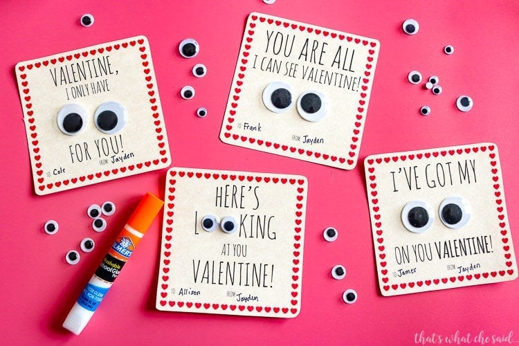Glue on Googly Eyes for a FUN Valentine Card Idea