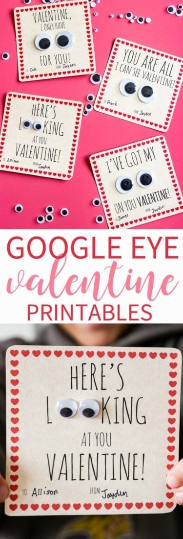 Googly Eye Valentine Free Printable