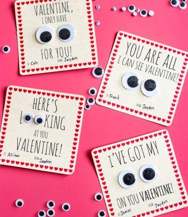 Googley Eyes Printable Valentine Card