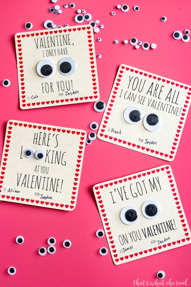 Googley Eyes Printable Valentine Card