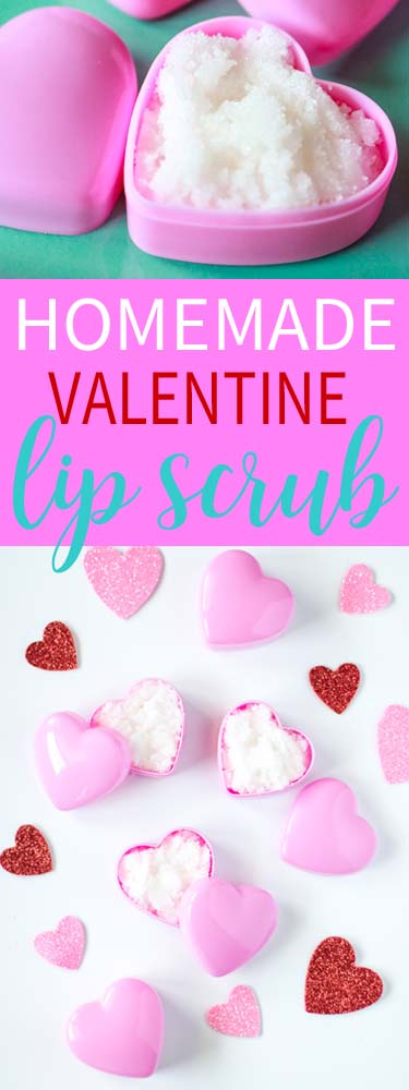 Homemade Valentine Lip Scrub