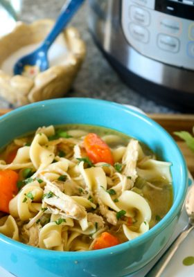 How to Make Instant Pot chicken noodle soup